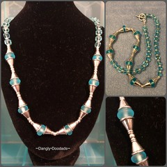 Round toggle glass necklaces (6 available)