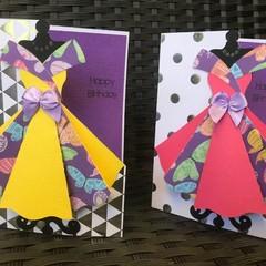3D Dress card