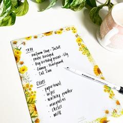 Magnetic Planner - Sunny Days Shopping List (18cm x 25.5cm)