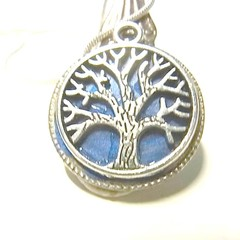 Necklace. Pendant necklace. Tree of life charm, recycled cutlery, spoon handle,