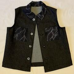 Sleeveless Jacket and Shorts