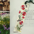 Poppies Bookmark - Original Hand Painted Floral Painting - Womans Gift Idea
