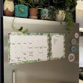 Fridge Planner/Magnetic Planner/Fridge Calendar/Monthly Whiteboard Planner/Plant