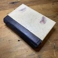 A6 custom designed  sketchbook  / journal featuring waxed handmade paper covers