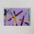 """Many Crosses Mark the Spot"" original acrylic prainting on paper"