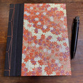 Handmade Japanese Stab Bound, Autumn Leaves, A5 Side-fold Sketchbook/Journal