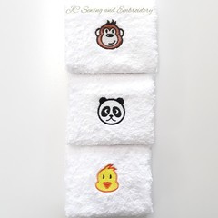 Animal Head Facewashers Pack B
