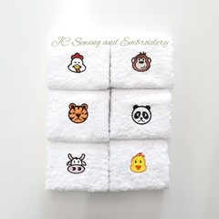 Animal Head Facewashers Pack C