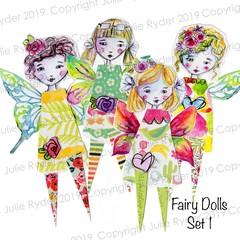 Printable Fairy Dolls Set 1 digital download image