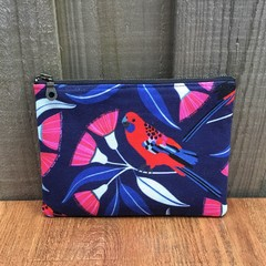 Crimson Rosella - Denim Purse