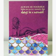 Always be a mermaid card