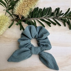 Ocean Green Bow Scrunchie
