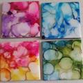 Ceramic Tile Coasters - Housewarming Gift