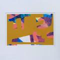 """Space Invaders"" original acrylic prainting on paper"
