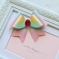 Mixed pastel rose bow