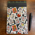 Japanese Stab Bound, Cats on Black, A5 Top-fold Sketchbook/Notebook