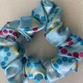 Elastic hair  scrunchie hair tie blue multicolour