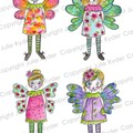 Fairies Set of 6 digital image for paper crafts