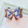 Floral and Rose Gold Mia Bow