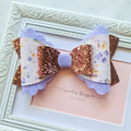 Floral and Rose Gold Olivia Bow