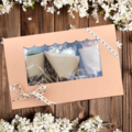 Gift Box - 3 Mini dried bouquets - White  - Napkin, table, wedding, wrapping