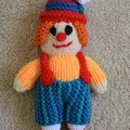 Hand Knitted Clown Doll