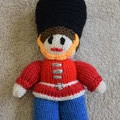 Hand Knitted Soldier Doll