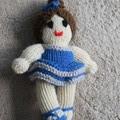 Hand Knitted Ballerina Doll