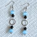 Blue Cat's Eye Drop Earrings