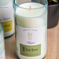 """""""Mojito"""" Soy Wax Candle In Recycled Wine Bottle"""