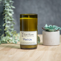 """Pinot Noir"" Soy Wax Candle In Recycled Wine Bottle"