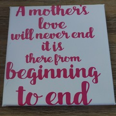 A Mother's Love Canvas or Photo frame