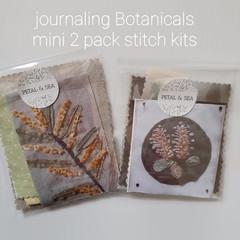 Stitch Kits by Petal & Sea- mini botanical 2 pack