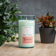 """Lychee Martini"" Soy Wax Candle In Recycled Wine Bottle"