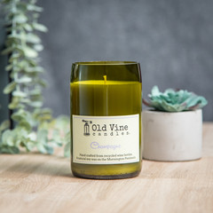 """""""Champagne"""" Soy Wax Candle In Recycled Wine Bottle"""