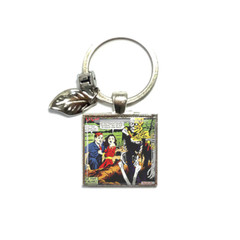 Retro horror comic keyring, add your charms