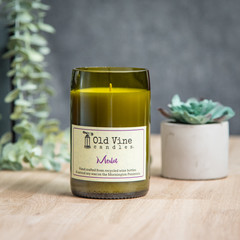 """Merlot"" Soy Wax Candle In Recycled Wine Bottle"
