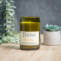 """""""Pinot Grigio"""" Soy Wax Candle In Recycled Wine Bottle"""