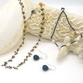 Kelly Sterling Silver Onyx Earrings