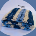 Granny Blocks Crochet Baby Blanket - Blues