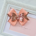 Rose Gold and Soft Pink Grace bow
