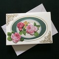 '3D Roses in Oval Frame'  Mothers Day Card