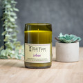 """""""Merlot"""" Soy Wax Candle In Recycled Wine Bottle"""