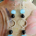 Blue Cat's Eye Drop Earrings