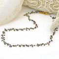 Raindrop multi drop Black Spinel necklace