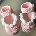 Crochet Mary Jane Baby Booties
