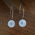 Recycled Silver Daisy earrings