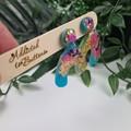 Galactic Rainbow Sparkle U-Turn Stack - Glitter Resin - MEGA Dangle earrings