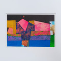 """Geometric Night Scape"" original acrylic collage"