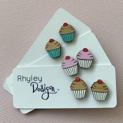 Cupcake Earring Studs